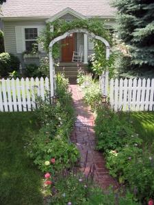 Traverse City garden entrance