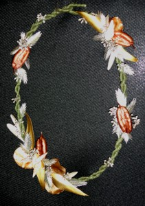 """Special Exhibits Artistic Crafts """"Notions & Necklaces"""" creating a necklace from plant materials"""