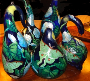 Painted gourds for Christmas 2013.
