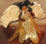 Gold Angel Doll Pin
